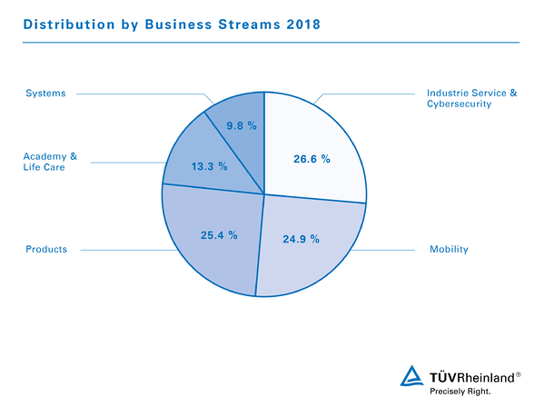 Infographic Distribution by Business Streams 2019