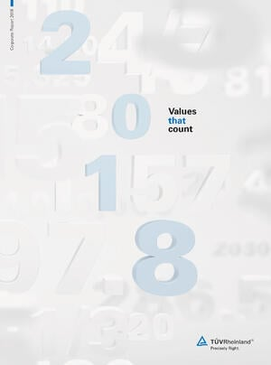 TÜV Rheinland Corporate Report 2018 front page